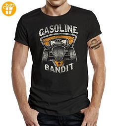 GASOLINE BANDIT® Hot Rod Biker T-Shirt: Hot Rod orange-L (*Partner-Link)