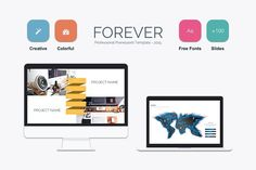 Forever Powerpoint Template by Mia on @creativemarket