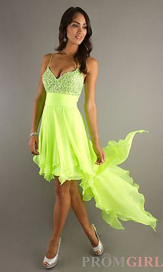 Lovely lime green prom dress
