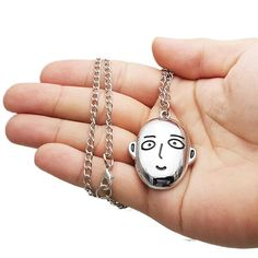 One Punch Man Saitama Inspired Necklace. Great anime gift to give or to collect!