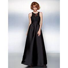 Prom/Formal Evening Dress A-line Jewel Floor-length Satin Dress – USD $ 109.98