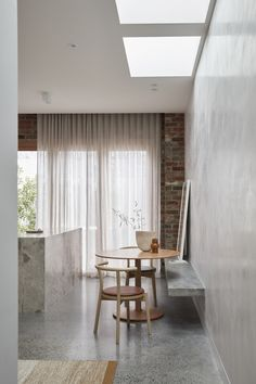Lyndhurst House in Richmond by Modl Office | Yellowtrace Richmond Melbourne, Melbourne House, Light Study, Concrete Bench, Granite Flooring, Soothing Colors, Calming, Bespoke Furniture, Two Bedroom