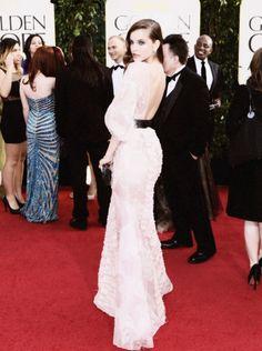 Barbara Palvin Golden Globes - love that back
