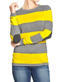 37b12035361a Graphic Crew-Neck Sweater - Yellow Stripe