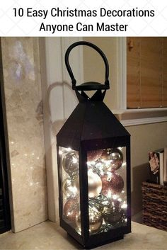 DIY decoration ideas - to design the garden for Christmas- DIY Deko Ideen – zu Weihnachten den Garten gestalten luminous steel lantern with Christmas balls – Christmas decoration in the entrance area - Noel Christmas, Christmas Balls, Winter Christmas, Christmas Crafts, Vintage Christmas, Christmas Ornaments, 2018 Christmas Gifts, Christmas Stage, Amazon Christmas