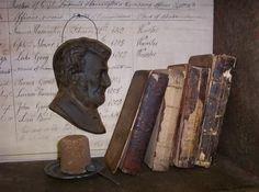 Primitive Abraham Lincoln Civil War Beeswax Ornie | eBay
