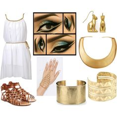 Ancient Egypt by elecktra94 on Polyvore featuring moda, Valentino, Blue Nile, Kenneth Jay Lane and egypt