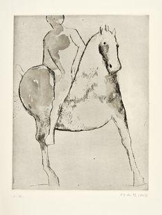 MARINO MARINI (Pistoia 1901 - Viareggio 1980) CHEVAUCHEE  Etching and aquatint, 1977.