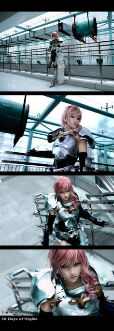 Lightning, another amazing cosplay. Her hair and face are so magnificent