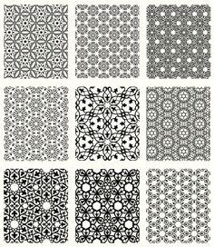 Islamic Patterns Set Vector Art 165643811