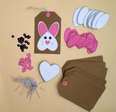 Easter gift tags bunny gift tags 450 via etsy pretty paper diy easter bunny gift tag kit makes 12 by bumpofknowledge on etsy https negle