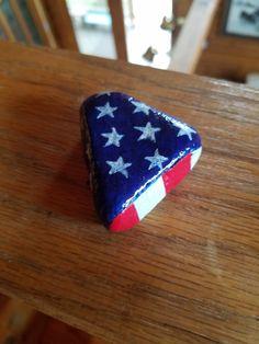 Folded American flag; patriotic; USA
