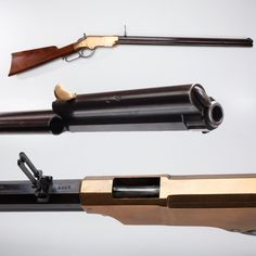 Henry .44 Rimfire Rifle- Produced in New Haven, CT, only about 10,000 Henry rifles were manufactured before 1865. With limited availability, the price went up & soon the Henry was a $50-$100 rifle. Despite having a 16-shoot tubular magazine, the Henry could only pump out a pistol-level projectile –a short 200-grain, .44 caliber bullet at fairly slow velocity.  The breechloading Henry sent off projectiles considerably larger in diameter & much heavier in weight.