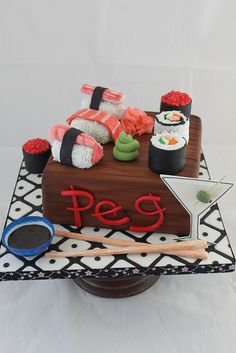 Sushi Cake by Andrea's SweetCakes, via Flickr