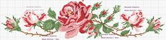 This Pin was discovered by Mar Cross Stitch Rose, Cross Stitch Borders, Cross Stitch Flowers, Cross Stitching, Cross Stitch Embroidery, Cross Stitch Patterns, Needlepoint Patterns, Embroidery Patterns, Rico Design