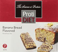 ProtiDIET Delicious Protein Bar  Nutritious Low Fat and Carb Snack With High Vitamins and Minerals   Healthy and Energizing Small Meal  Assists In Weight Loss Banana Bread * Check out the image by visiting the link. (Note:Amazon affiliate link) #healthydietsnacks