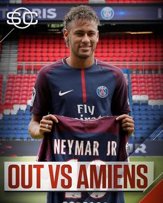 PSG confirms Neymar will not make his debut vs Amiens due to delay on his transfer document.  He's expected to debut on Aug. 13 vs Guingamp.
