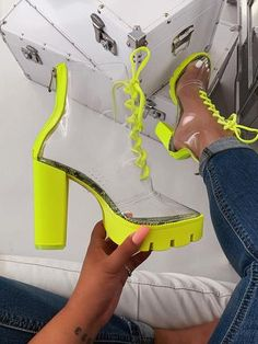 Bootie - Lime Snake -Steph Bootie - Lime Snake - This is how you sprinkle fabulous on your look. Get your look to slay 😍🔥 Aurora Heel - Black – shopofficialbee HEELS / WEDGES – Page 2 – shopofficialbee Newclarity Clear Sandals. All Sizes Available Shoes Heels Wedges, Sneaker Heels, Women's Shoes, Pumps, Flat Shoes, Cute Shoes Heels, Flat Sandals, Casual Shoes, Sneakers Mode