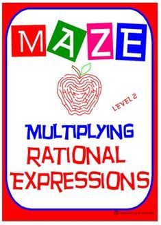 """✐ This product is a good review of """"Multiplying Rational Expressions - Level 2"""" as students must feel comfortable with:  ☑ Factoring Techniques: ✐ Factoring GCF ✐ Difference of Two Squares ✐ Factoring Trinomial where a = 1 ✐ Factoring Trinomial where a ≠ 1 ✐ Working with opposite factors ✐ FACTOR COMPLETELY"""