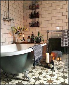 40 Amazing Bohemian Style Bathroom Decor Ideas The Effective Pictures We Offer You About bohemian decor A quality picture can tell you many things. Bathroom Styling, Bathroom Interior Design, Decor Interior Design, Interior Colors, Bad Inspiration, Bathroom Inspiration, Bathroom Ideas, Bathroom Organization, Bathroom Inspo
