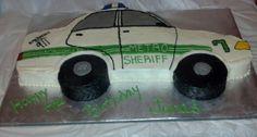 Police car cake 2D