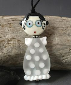 LITTLE MISS ANGEL  2 piece glass bead doll by jperaladesigns
