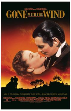 Gone with the Wind Scarlet Rhett Kiss Movie Poster 11x17
