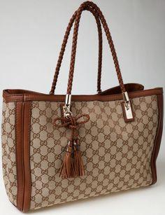 #Gucci Classic Monogram Canvas Tote Bag. #heritageauctions