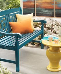 Find fun and creative ways to add color to your backyard! Mix and match decor to get the perfect look.