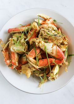 Savory Korean-inspired Dungeness Crab marinated in doenjang and soy sauce then roasted in the oven. Simple recipe with big flavors.