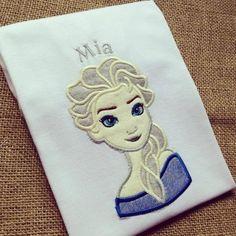 Personalised Elsa Frozen children's T shirt