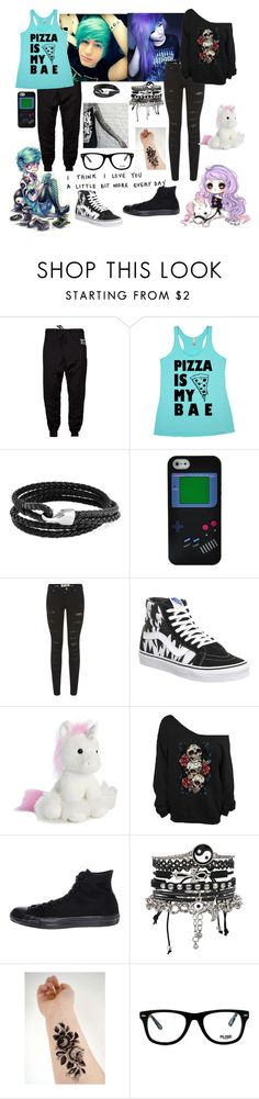 """""""<3"""" by clairestone ❤ liked on Polyvore featuring INDIE HAIR, Bling Jewelry, Nintendo, Parisian, Vans, Aurora World, Converse, ASOS and Muse"""