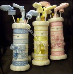 Golf Bag Diaper Cake Baby Shower Gift Centerpiece