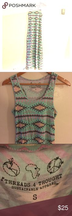 Threads 4 thought small maxi dress Threads 4 thought small maxi dress blue Aztec print Threads 4 Thought Dresses Maxi