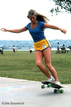 1970's skateboarding. Still have a scar on my right elbow from skateboard fall