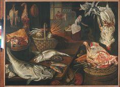 Pieter Cornelisz. van Rijck, Keukenstuk, 1621. (eigen collectie) #food #art #painting