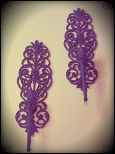 i'm thinking about doing my kitchen in purple and i already have some sconces like this :)