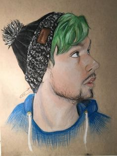the-joker-bandit: Finally finished my drawing of jacksepticeye !! I've never…