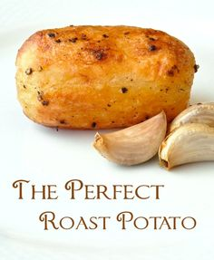 The Perfect Roast Potato (English Style Roast Potatoes) - forget mashed!...roast those potatoes! Learn how to create a crispy outside with a steaming fluffy inside every time. Great with roast chicken, beef or pork and wonderful served with roasted garlic and sour cream. Soooo delicious.