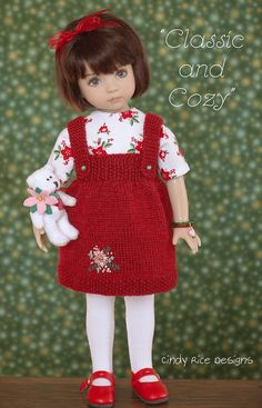 little darlings – Page 3 – Cindy Rice Designs Crochet Doll Clothes, Knitted Dolls, Baby Knitting Patterns, Doll Patterns, Baby Sweaters, Little Darlings, Cute Dolls, Beautiful Dolls, Girl Dolls