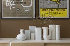 Colecao de vasos brancos
