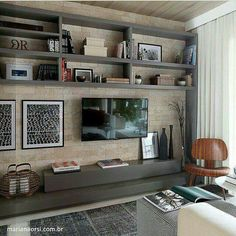 Ideas For Living Room Decor With Tv Home Theaters Living Room Tv, Home And Living, Home And Family, Muebles Living, Home Theater Design, Home Tv, Sweet Home, House Design, Interior Design