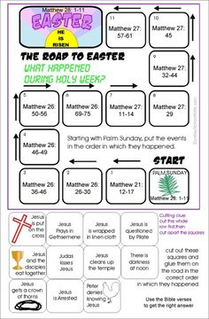 Sunday school kids Holy week, The Road to easter Activity with bible verses for . - Sunday school kids Holy week, The Road to easter Activity with bible verses for older kids to look up Holy Week Activities, Sunday School Activities, Bible Activities, Sunday School Kids, Sunday School Lessons, School Children, Bible Lessons For Kids, Bible For Kids, Holy Week For Kids