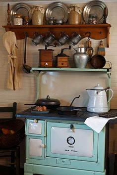 I love this old stove!