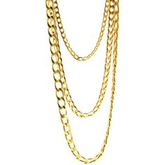Long Layered Chain Necklace Set ($23) ❤ liked on Polyvore featuring jewelry, necklaces, accessories, chains, multiple strand necklace, multi chain necklace, chunky chain necklaces, multi strand chain necklace and chain link jewelry
