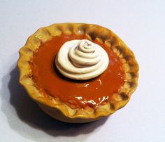 Whole Pumpkin Pie Magnet Polymer Clay Magnet by GuiltfreeDecadence, $9.50
