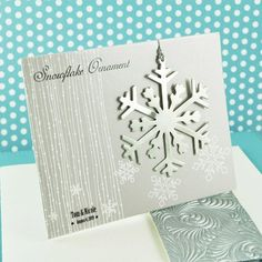 Silver Snowflake Ornament With Gift Card by Beau-coup