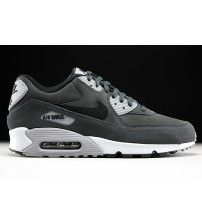 newest 587c4 2f132 Air Max 90 Leather Anthracite Black Wolf Grey White Trainer Outlet