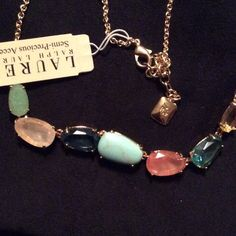 """Ralph Lauren semi Precious Accents necklace Ralph Lauren semi Precious Accents necklace, turquoise,rose quartz, citrine, aquamarine.believe the Quartz and turquoise are to  genuine the others are crystal glass faceted stones measures 17.5 """" + 2"""" extender Ralph Lauren Jewelry Necklaces"""