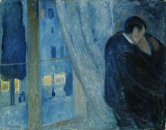 Edvard Munch, (Kiss by the Window)